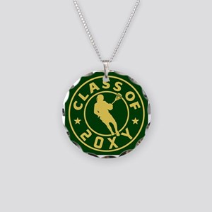 Class of 20?? Lacrosse Necklace Circle Charm