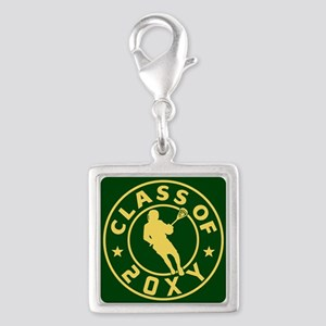 Class of 20?? Lacrosse Silver Square Charm