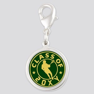 Class of 20?? Lacrosse Silver Round Charm