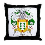 Roa Family Crest Throw Pillow