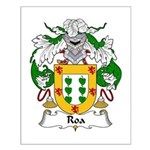 Roa Family Crest Small Poster