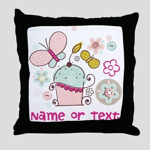 Custom add name or text Throw Pillow