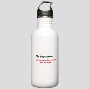 Numbers are my Superpower Water Bottle