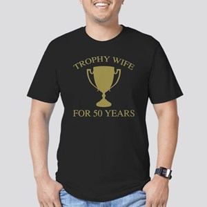 Trophy Wife For 50 Yea Men's Fitted T-Shirt (dark)