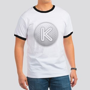 K Golf Ball - Monogram Golf Ball - Monogra T-Shirt