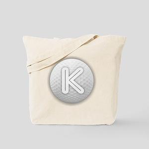 K Golf Ball - Monogram Golf Ball - Monogr Tote Bag