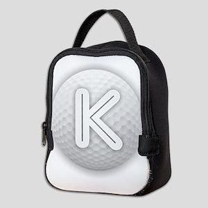 K Golf Ball - Monogram Golf Bal Neoprene Lunch Bag
