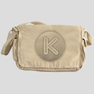 K Golf Ball - Monogram Golf Ball - M Messenger Bag
