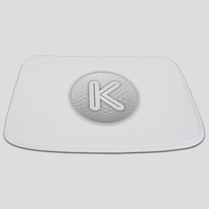 K Golf Ball - Monogram Golf Ball - Monogra Bathmat