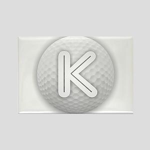 K Golf Ball - Monogram Golf Ball - Monogra Magnets