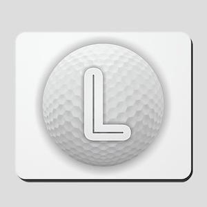 L Golf Ball - Monogram Golf Ball - Monog Mousepad