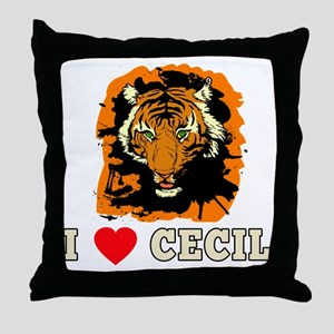 I LOVE CECIL THE LION Throw Pillow