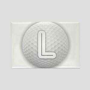 L Golf Ball - Monogram Golf Ball - Monogra Magnets