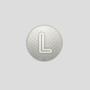 L Golf Ball - Monogram Golf Ball - Mon Mini Button