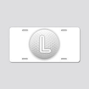 L Golf Ball - Monogram Golf Aluminum License Plate