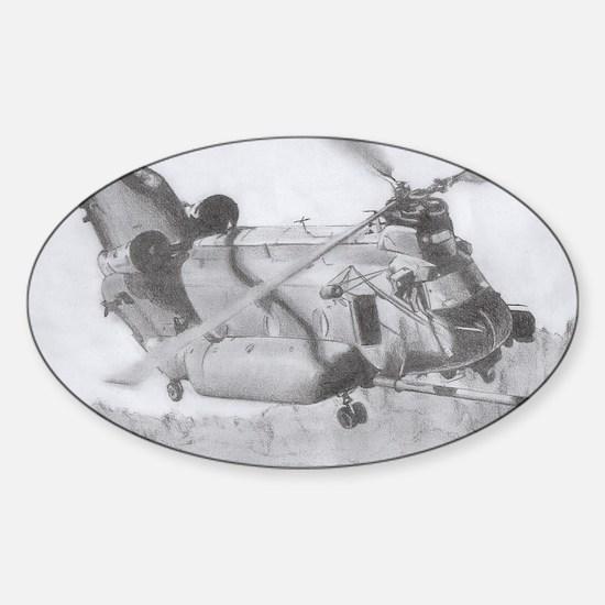 Chinook: Close Encounter Sticker (Oval)