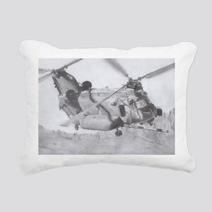 Chinook: Close Encounter Rectangular Canvas Pillow