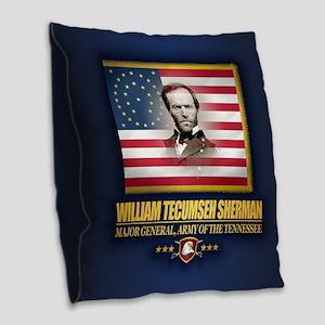 Sherman (c2) Burlap Throw Pillow