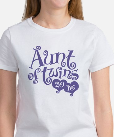Aunt of Twins 2016 Women's T-Shirt