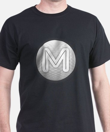 M Golf Ball - Monogram Golf Ball - Monogra T-Shirt