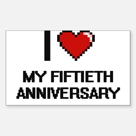I Love My Fiftieth Anniversary Decal