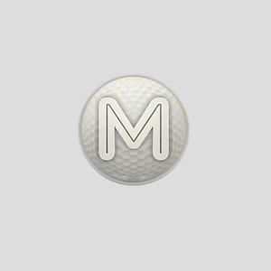 M Golf Ball - Monogram Golf Ball - Mon Mini Button