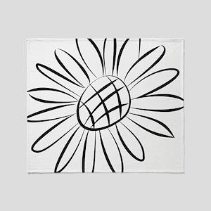 Sunflower Lines Throw Blanket