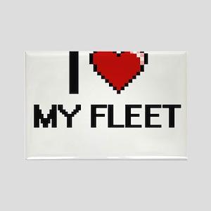I Love My Fleet Magnets