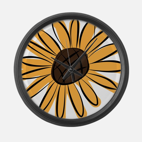 Cool Sunflowers Large Wall Clock