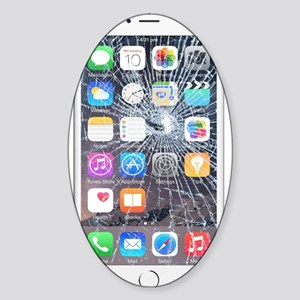 iphone6TouchCaseCracked Sticker (Oval)