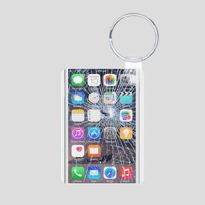 iphone6TouchCaseCracked Aluminum Photo Keychain