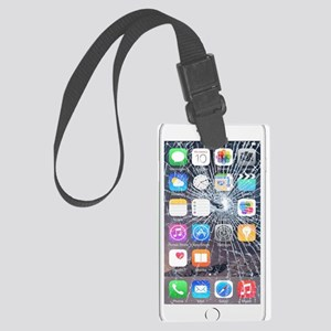 iphone6TouchCaseCracked Large Luggage Tag