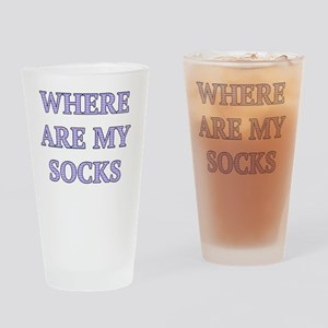 Where Are My Socks Drinking Glass