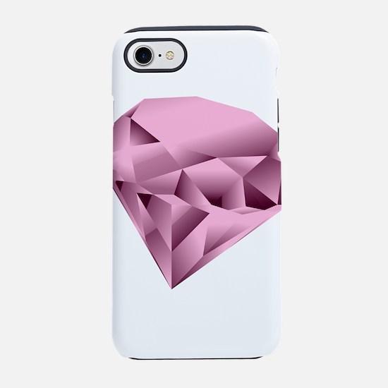 Light Pink Digital Diamond iPhone 8/7 Tough Case