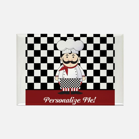 Personalized French Chef Magnets