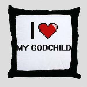 I Love My Godchild Throw Pillow