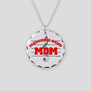 Marching Band Mom Necklace Circle Charm