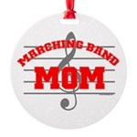 Marching Band Mom Round Ornament