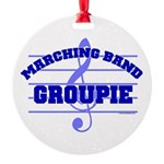Marching Band Groupie Round Ornament