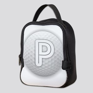 P Golf Ball - Monogram Golf Bal Neoprene Lunch Bag