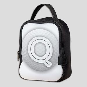 Q Golf Ball - Monogram Golf Bal Neoprene Lunch Bag