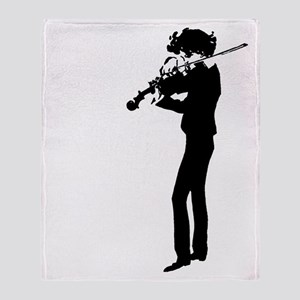 The Violinist Throw Blanket