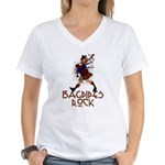 Bagpipes Rock Women's V-Neck T-Shirt