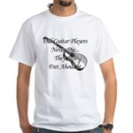 Guitar Players Never Die White T-Shirt
