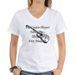 Guitar Players Never Die Women's V-Neck T-Shirt