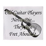 Guitar Players Never Die Throw Blanket