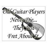 Guitar Players Never Die Small Poster