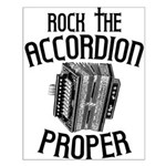 Rock the Accordion Small Poster