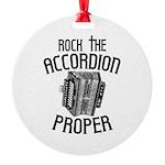 Rock the Accordion Round Ornament