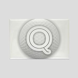 Q Golf Ball - Monogram Golf Ball - Monogra Magnets